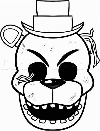 Freddy Coloring Cara Colorear Dibujos Printable Golden