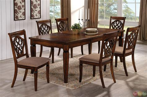 oak transitional style  piece dining room table