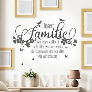 Wandtattoo Sprüche Familie : wandtattoo unsere familie spr che zitate liebe zusammen sind wir alles deko ws16 ebay ~ Frokenaadalensverden.com Haus und Dekorationen