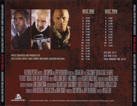 Score Promos Release News The Rock [expanded  2cd Hans