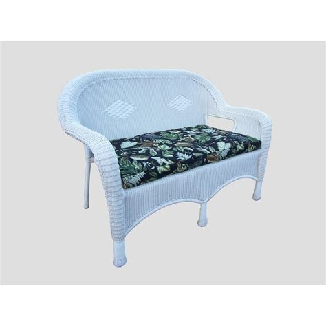 White Wicker Loveseat by White Wicker Outdoor Loveseat With Black Cushions Hd L Bf