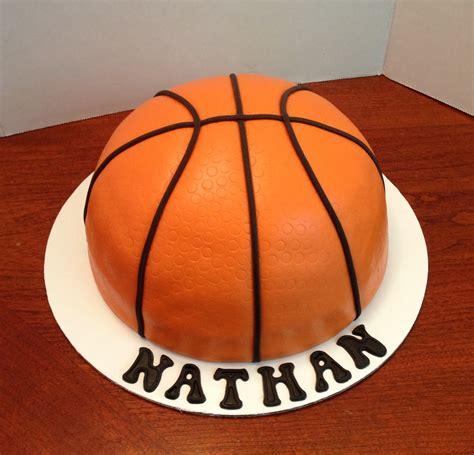 Simple Birthday Cake Decorating Ideas by Half Basketball Cake All Fondant Karen Reeves Custom