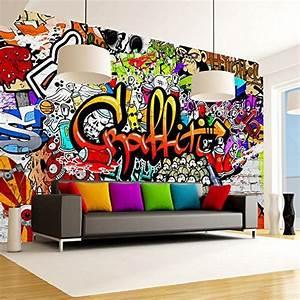 papier peint graffiti sur amazon pour chambre d39ados With markise balkon mit graffiti tapete online shop