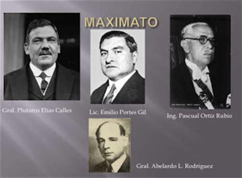 bloque v presidentes el maximato 1928 1934