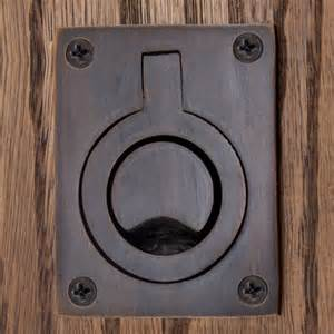 round recessed ring pull hardware With barn door ring pulls