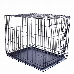 pet the best collapsible metal pet crate with plastic tray With best metal dog crate