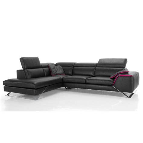 canapé haut de gamme canapé d 39 angle avec grande méridienne cuir haut de gamme