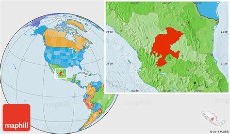 political location map  zacatecas