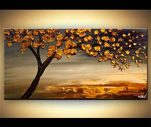 Painting - blooming-tree-modern-abstract-landscape