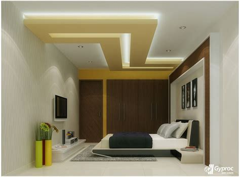 Modern Bedroom Gypsum by This Gracious And Artistic Falseceiling Will Definitely