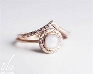 engagement ring rose gold opal engagement ring wedding With opal wedding rings rose gold
