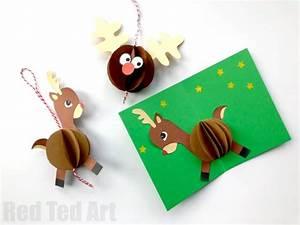 3d Reindeer Card Diy