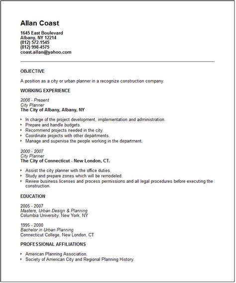 Planner Resume by Resume Sles Our Collection Of Free Resume Exles