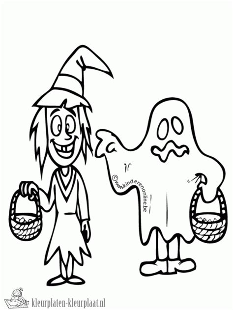 Kleurplaat Spook by Kleurplaat Spookje