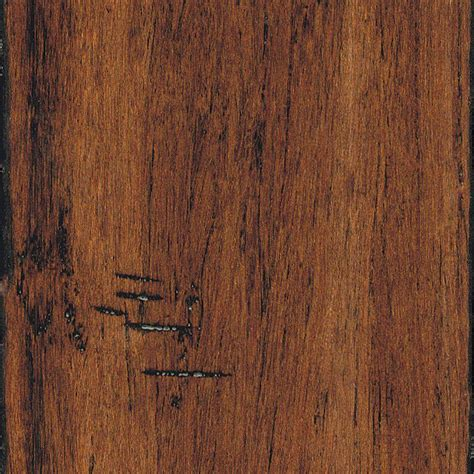 handscraped bamboo home legend hand scraped strand woven spice 3 8 in x 5 1 8 in x 36 in length click lock