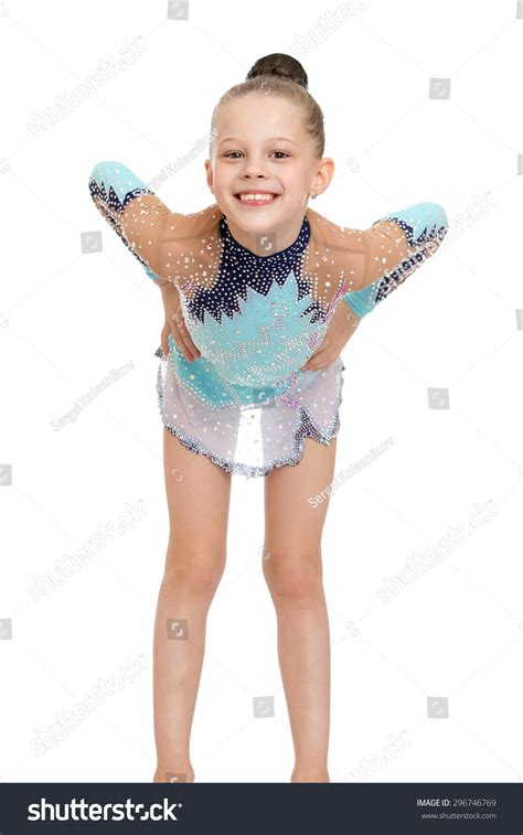 Elegant Young Gymnast Beautiful Sports Dress Stock Photo 296746769 - Shutterstock
