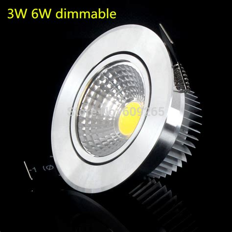 1pcs cob led downlight 3w 6w dimmable recessed light