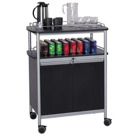 Small spaces can create chaos when it comes to choosing furniture. Coffee Bar Furniture & Supplies - SAFCO® Mobile Beverage Cart