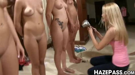 Hazing College Babe Toys Pussy Before Oral Group Sex