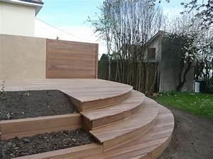 Terrasse En Ipe : construction d une terrasse en ipe arrondie fc terrassebois ~ Premium-room.com Idées de Décoration