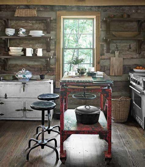 super neat  inexpensive rustic kitchen islands