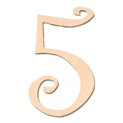 wooden numbers home depot design craft millworks 8 in baltic birch curly wood number 5 47031 the home depot