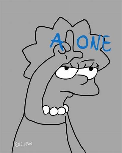 Lisa Simpson Simpsons Alone Sad Loser Instagood