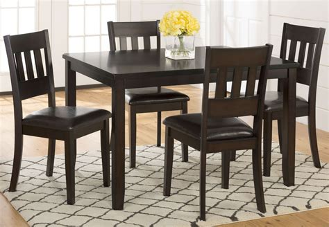 dark rustic prairie 5 piece dining room set 922 jofran