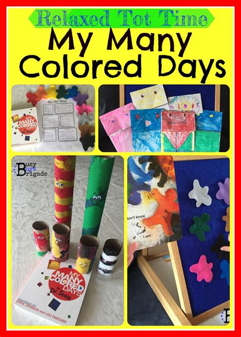 fun crafts activities    colored days