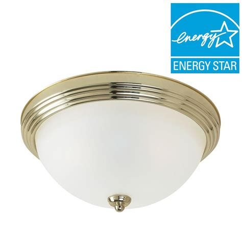 sea gull lighting 3 light ceiling polished brass