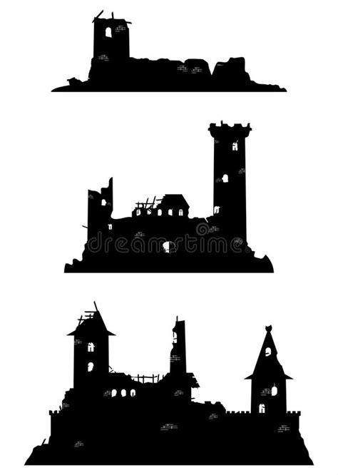 Castle ruins stock vector. Illustration of fairy ...