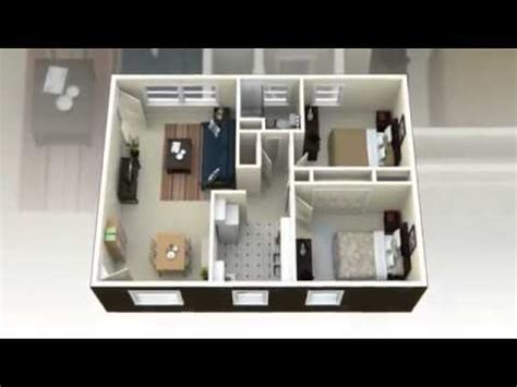 2 bedroom house plans 3d view concepts youtube