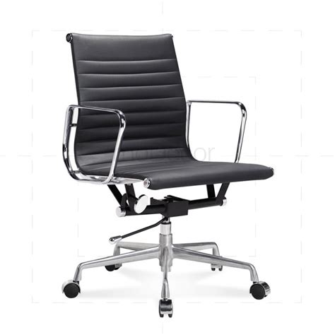 black leather desk chair eames black leather office chair modecor furnitures