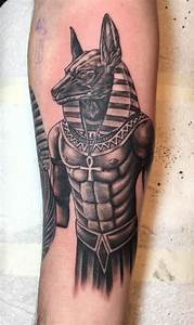 Anubis Egyptian God tattoo on my inner right forearm ...