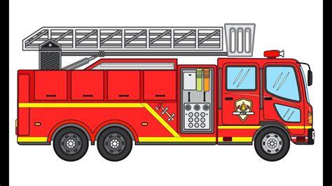 cara menggambar mobil pemadam kebakaran menggambar untuk