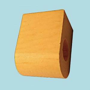 """Curtain Rod Coupler Support Country Pine 3"""" Projection"""