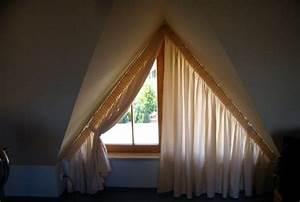 Schräge Fenster Gardinen : idee f r dreiecksfenster verdunkeln mit gardine trapezoid window curtains pinterest fur ~ Watch28wear.com Haus und Dekorationen