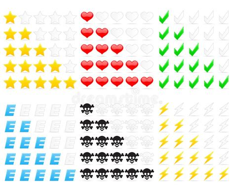 Rating Icons Stock Images