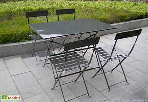 Salon De Jardin Pliant : salon de jardin metal pliant table jardin rallonge ~ Teatrodelosmanantiales.com Idées de Décoration