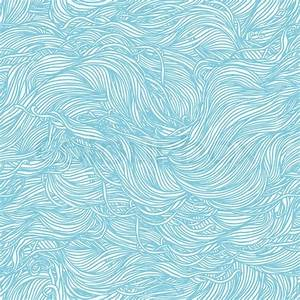 Abstract light blue hand-drawn pattern, waves background