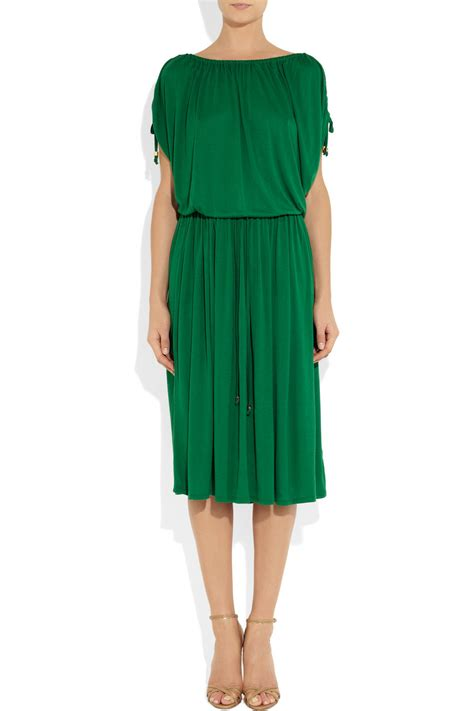 Lyst - Michael michael kors Drawstring Jersey Midi Dress