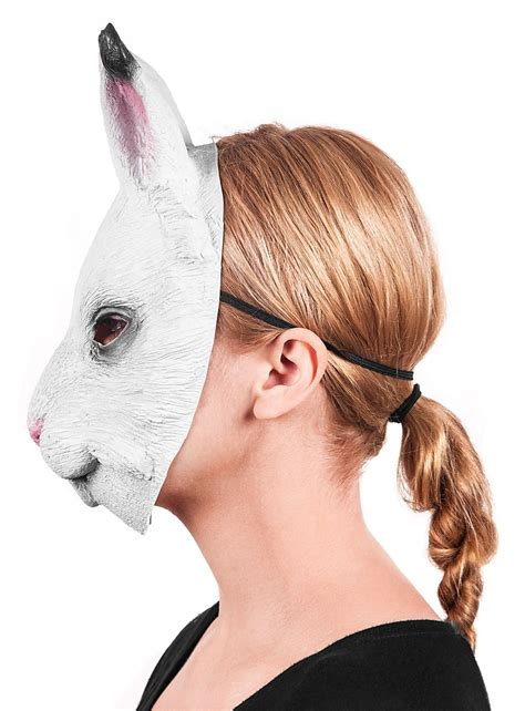 bunny rabbit latex  mask maskworldcom