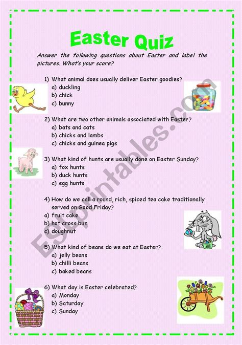fun easter trivia    complete kittybabylovecom