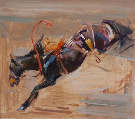 portrait   bucking horse originals  artwork