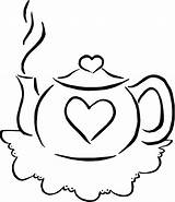 Coloring Teapot Pages Tea Colouring Teacup Printable Drink Parties Clip Pots Sheets Sets Clipart Cliparts Valentine Simple Birthday Template Popular sketch template