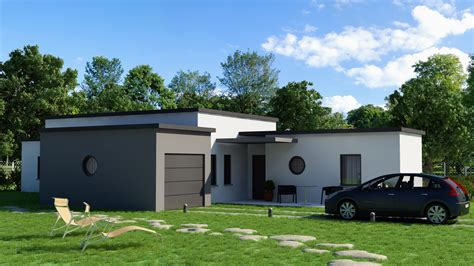 incroyable logiciel gratuit maison 3d 12 plan maison contemporaine plain pied toit plat