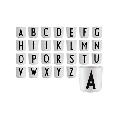 Arne Jacobsen Letters arne jacobsen melamine cup by design letters