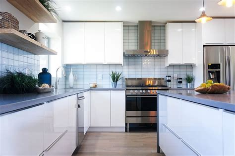 gloss white cabinet city kitchen  bath