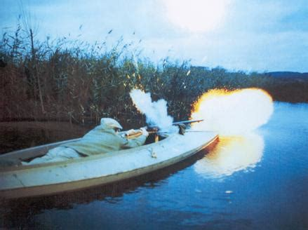 Punt Gun On Boat by Muzzle Loading Punt Gun