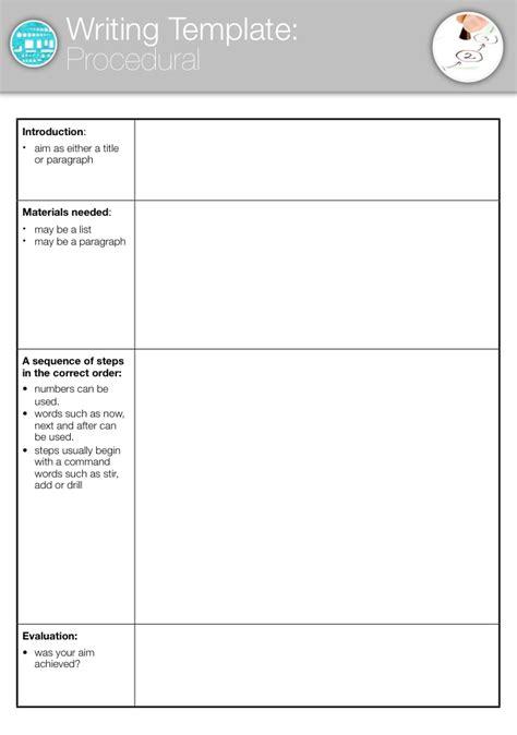 procedural writing template template procedural